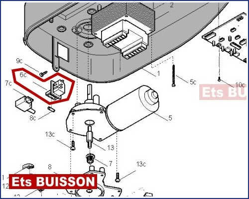 Came ver v600 prise avec porte fusible 119rie127 6c for Porte de garage came