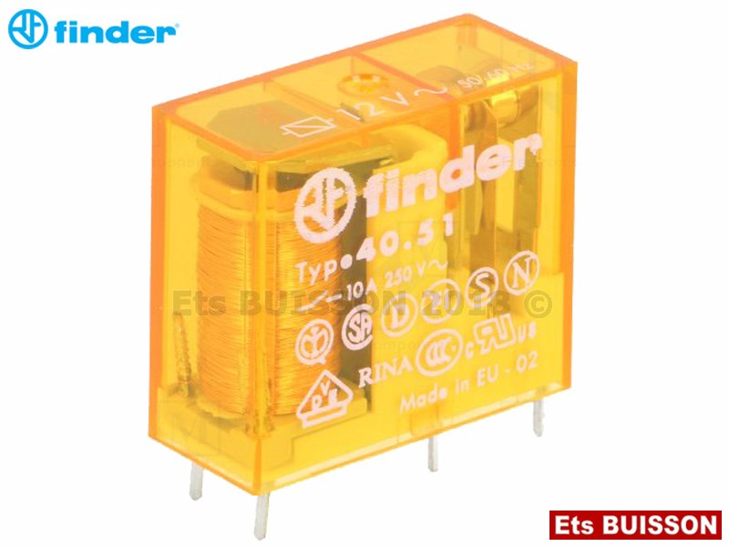 Finder - Relais 12V AC 2CT