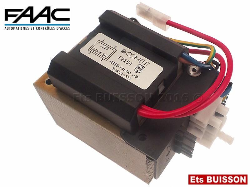 Pi ce d tach e faac transformateur 220v 24v n 14 ref 115014 for Transformateur 220v 24v castorama